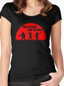 The walking dead - Rick - Daryl - Michonne Women's Fitted Scoop T-Shirt