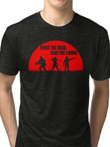 The walking dead - Rick - Daryl - Michonne Tri-blend T-Shirt