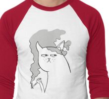 Jaded Kitty Men's Baseball ¾ T-Shirt