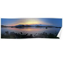 Icy Sunset in the Scottish Highlands Poster