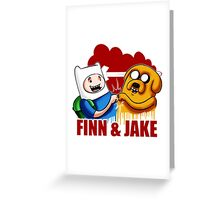 Adventure Time Jake And Finn Greeting Card
