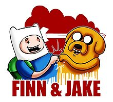 Adventure Time Jake And Finn Photographic Print