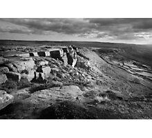 Curbar Edge and view towards Baslow Edge Photographic Print