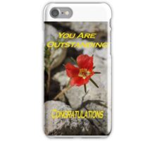 Card: You Are Outstanding Congratulations iPhone Case/Skin