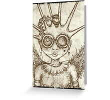 take me to space, lady Greeting Card