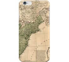 American Revolutionary War Era Maps 1750-1786 948 The United States of America with the British possessions of Canada Nova Scotia & of Newfoundland divided iPhone Case/Skin