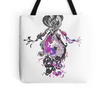 Psychedelic Ink Octopus Black Watercolor Tote Bag