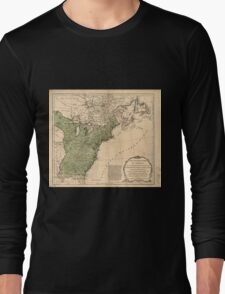 American Revolutionary War Era Maps 1750-1786 948 The United States of America with the British possessions of Canada Nova Scotia & of Newfoundland divided Long Sleeve T-Shirt