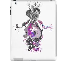 Psychedelic Ink Octopus Black Watercolor iPad Case/Skin