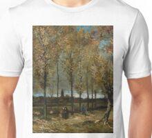 1885-Vincent van Gogh-Lane with Poplars-78x97 Unisex T-Shirt