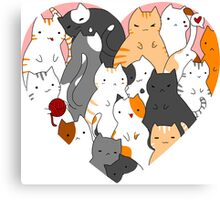 A heart full of cats Canvas Print