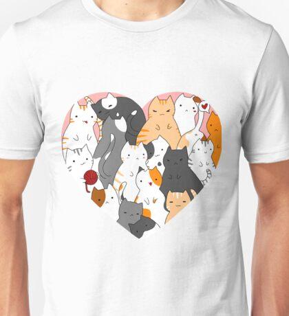 A heart full of cats Unisex T-Shirt