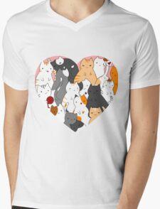 A heart full of cats Mens V-Neck T-Shirt
