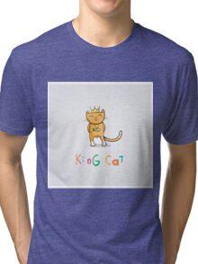 King cat. Tri-blend T-Shirt