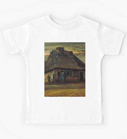 1885-Vincent van Gogh-The cottage-65,5x79 Kids Tee