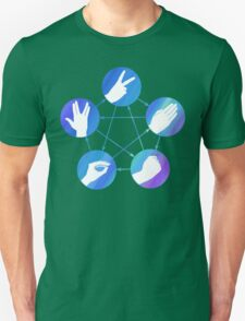 The Big Bang Theory rock-paper-scissors-lizard-Spock Unisex T-Shirt