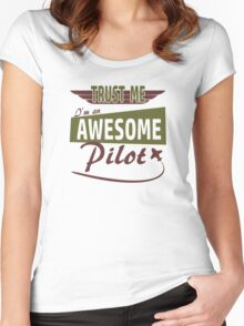Awesome Pilot Women's Fitted Scoop T-Shirt
