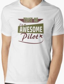 Awesome Pilot Mens V-Neck T-Shirt