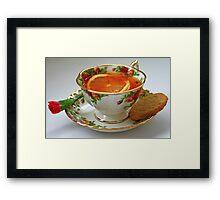 Lemon Tea Framed Print