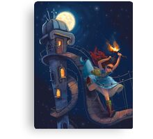 The double life of princess Pia Canvas Print