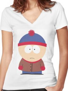 Stan March South Park Women's Fitted V-Neck T-Shirt