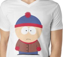 Stan March South Park Mens V-Neck T-Shirt