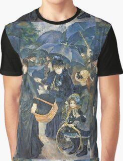 Renoir Auguste - The Umbrellas. Auguste Renoir Umbrellas Graphic T-Shirt