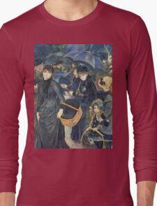 Renoir Auguste - The Umbrellas. Auguste Renoir Umbrellas Long Sleeve T-Shirt
