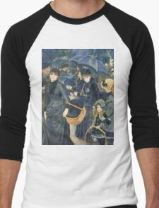 Renoir Auguste - The Umbrellas. Auguste Renoir Umbrellas Men's Baseball ¾ T-Shirt