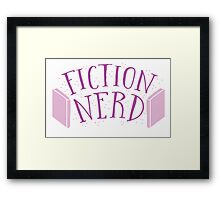 FICTION NERD with books Framed Print