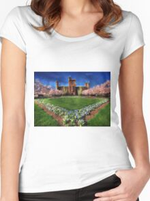 Spring Blooms in the Smithsonian Castle Garden Women's Fitted Scoop T-Shirt
