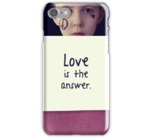 Love is the answer! iPhone Case/Skin