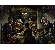 1885-Vincent van Gogh-The potato eaters Photographic Print