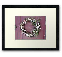 Shell wreath - Muschelkranz Framed Print