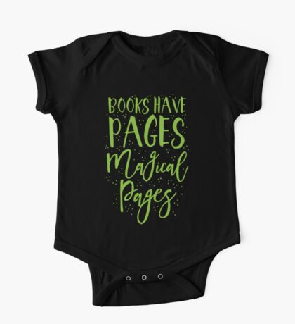 Books have pages, Magical pages One Piece - Short Sleeve