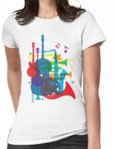 Jazz instruments Womens Fitted T-Shirt