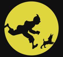Tintin Silhouette Kids Tee