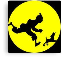 Tintin Silhouette Canvas Print