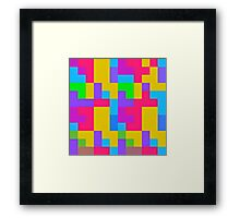 Colorful tetris shapes Framed Print
