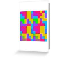 Colorful tetris shapes Greeting Card