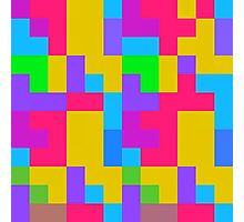 Colorful tetris shapes Photographic Print
