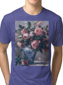 Renoir Auguste - Vase Of Roses Tri-blend T-Shirt