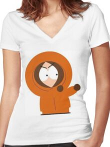 kenny Mccormick South Park Women's Fitted V-Neck T-Shirt
