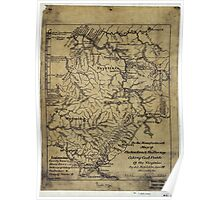 263 The Am Manufacturers map of the New River the Flat-top coking coal fields of the Virginias Poster