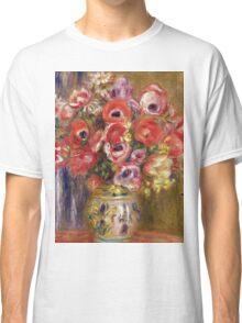 Renoir Auguste - Vase Of Tulips And Anemones Classic T-Shirt