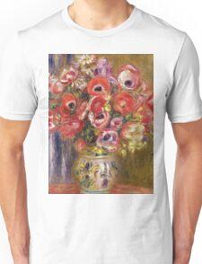 Renoir Auguste - Vase Of Tulips And Anemones Unisex T-Shirt