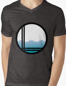 Lonely Ocean Logo Mens V-Neck T-Shirt