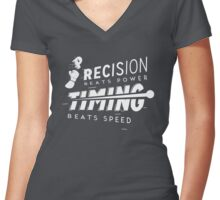 Conor McGregor - Win with Precision and Timing Women's Fitted V-Neck T-Shirt