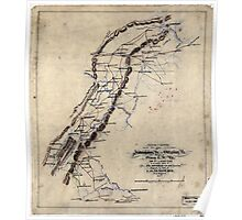 247 Sketch of routes of the 2nd Corps AN Virginia from Fredericksburg Va to Gettysburg Pa and return to Orange CH Va June 4th to August 1st 1863 Poster