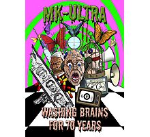MK Ultra - Washing Brains For 70 Years Photographic Print